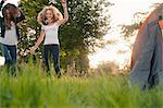 Teenage girls dancing in field Stock Photo - Premium Royalty-Free, Artist: AWL Images, Code: 649-06716849