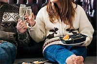 Couple toasting each other Stock Photo - Premium Royalty-Freenull, Code: 649-06716877