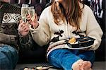 Couple toasting each other Stock Photo - Premium Royalty-Free, Artist: Westend61, Code: 649-06716877