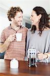 Couple drinking coffee together Stock Photo - Premium Royalty-Free, Artist: Cultura RM, Code: 649-06717017