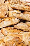 Pile of crusty bread loaves Stock Photo - Premium Royalty-Freenull, Code: 649-06717143