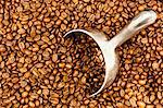Metal scoop in pile of coffee beans Stock Photo - Premium Royalty-Free, Artist: CulturaRM, Code: 649-06717146