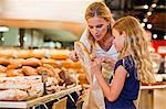 Mother and daughter in grocery store Stock Photo - Premium Royalty-Free, Artist: Michael Mahovlich, Code: 649-06717209