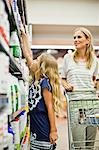 Mother and daughter in grocery store Stock Photo - Premium Royalty-Free, Artist: Blend Images, Code: 649-06717218