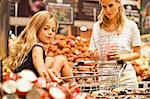 Mother and daughter in grocery store Stock Photo - Premium Royalty-Free, Artist: AWL Images, Code: 649-06717225