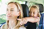 Mother and daughter talking in car Stock Photo - Premium Royalty-Free, Artist: Blend Images, Code: 649-06717287