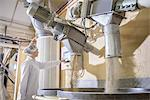 Worker with machinery in biscuit factory Stock Photo - Premium Royalty-Free, Artist: Westend61, Code: 649-06717647