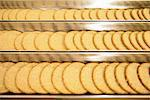 Biscuits on production line in factory Stock Photo - Premium Royalty-Free, Artist: Robert Harding Images, Code: 649-06717656