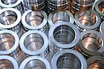Close up of steel rings in factory Stock Photo - Premium Royalty-Free, Artist: Blend Images, Code: 649-06717710