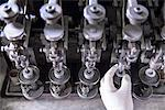Worker using polishing machinery Stock Photo - Premium Royalty-Free, Artist: David Mendelsohn, Code: 649-06717721