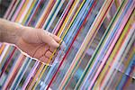 Colorful yarn on loom in textile mill Stock Photo - Premium Royalty-Free, Artist: Philip Rostron, Code: 649-06717769