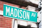 Close up of Madison Avenue sign Stock Photo - Premium Royalty-Free, Artist: Martin Frster, Code: 614-06718573