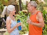 Older couple working out together Stock Photo - Premium Royalty-Free, Artist: Glowimages, Code: 614-06718879
