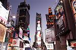 Illuminated billboards in Times Square Stock Photo - Premium Royalty-Free, Artist: Cultura RM, Code: 614-06718922