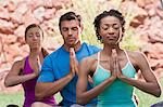 People meditating together outdoors Stock Photo - Premium Royalty-Free, Artist: Cultura RM, Code: 614-06719138