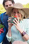 Couple shopping at farmer's market Stock Photo - Premium Royalty-Free, Artist: Cultura RM, Code: 614-06719233