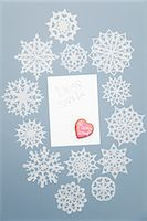snowflakes  holiday - Illustration of blank Christmas card Stock Photo - Premium Royalty-Freenull, Code: 614-06719352