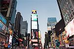 Illuminated billboards in Times Square