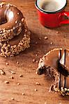 Decorated doughnuts and coffee Stock Photo - Premium Royalty-Free, Artist: Cultura RM, Code: 614-06719623