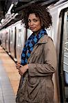 Woman walking on subway platform Stock Photo - Premium Royalty-Free, Artist: ableimages, Code: 614-06719728