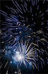 Fireworks exploding in night sky Stock Photo - Premium Royalty-Free, Artist: Cultura RM, Code: 614-06719756