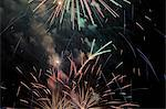 Fireworks exploding in night sky Stock Photo - Premium Royalty-Freenull, Code: 614-06719758