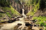 Blurred view of waterfall in canyon Stock Photo - Premium Royalty-Free, Artist: Robert Harding Images, Code: 614-06720060