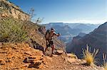 Man hiking trail in Grand Canyon Stock Photo - Premium Royalty-Free, Artist: Westend61, Code: 614-06720090