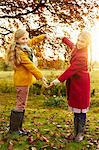 Girls making heart shape with arms outdoors Stock Photo - Premium Royalty-Free, Artist: Blend Images, Code: 6113-06720301
