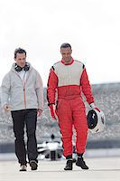 race track (people) - Racer and manager walking on track Stock Photo - Premium Royalty-Freenull, Code: 6113-06720787