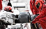Racing team working at pit stop Stock Photo - Premium Royalty-Free, Artist: AWL Images, Code: 6113-06720835
