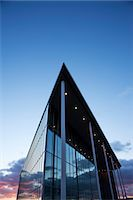 Modern building and sunset sky Stock Photo - Premium Royalty-Freenull, Code: 6113-06721404