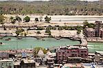 High angle view of the holy city, Haridwar, Ganges River, Uttarakhand, India Stock Photo - Premium Rights-Managed, Artist: Photosindia, Code: 857-06721466