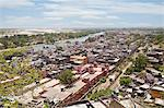 High angle view of the holy city, Haridwar, Ganges River, Uttarakhand, India Stock Photo - Premium Rights-Managed, Artist: Photosindia, Code: 857-06721467