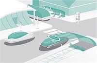 futuristic - Modern city Stock Photo - Premium Royalty-Freenull, Code: 630-06723657