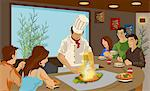 Chef cooking Japanese cuisine in a restaurant Stock Photo - Premium Royalty-Free, Artist: foodanddrinkphotos, Code: 630-06723904