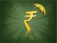 Indian rupee symbol covered by an umbrella Stock Photo - Premium Royalty-Freenull, Code: 630-06724089