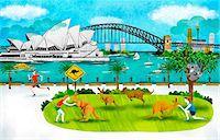 Australia, New South Wales, Sydney, Opera House And Harbor Bridge Stock Photo - Premium Royalty-Freenull, Code: 6111-06729210