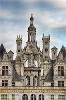 Close up of towers at Chambord Castle (Chateau de Chambord). UNESCO World Heritage Site. Chambord, Loir-et-Cher, Loire Valley, France. Stock Photo - Premium Royalty-Freenull, Code: 600-06732615