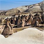 Turkey, Central Anatolia, Cappadocia, Tuff Rock Formations (Fairy Chimneys), Pasabag, near Zelve