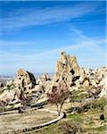 Turkey, Central Anatolia, Cappadocia, Tuff Rocks in Uchisar, Goreme Valley