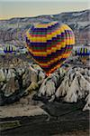 Turkey, Central Anatolia, Cappadocia, Goreme, Hot Air Balloon Tour at Dawn Stock Photo - Premium Rights-Managed, Artist: Siephoto, Code: 700-06732674