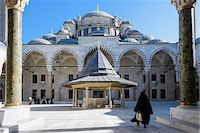 Turkey, Marmara, Istanbul, Fatih Mosque Courtyard Stock Photo - Premium Rights-Managednull, Code: 700-06732685