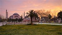 Turkey, Marmara, Istanbul, Hagia Sophia (Ayasofya) at Sunrise, as seen from Sultan Ahmet Square Stock Photo - Premium Rights-Managednull, Code: 700-06732701