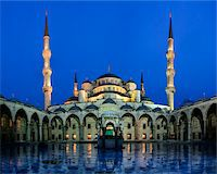 Turkey, Marmara, Istanbul, Blue Mosque, Sultan Ahmed Mosque, Courtyard at Dawn Stock Photo - Premium Rights-Managednull, Code: 700-06732755