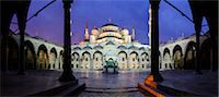 Turkey, Marmara, Istanbul, Blue Mosque, Sultan Ahmed Mosque, Courtyard at Dawn Stock Photo - Premium Rights-Managednull, Code: 700-06732757