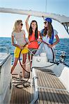 Croatia, Adriatic Sea, Young women on sailboat Stock Photo - Premium Royalty-Free, Artist: Aurora Photos, Code: 6115-06733139