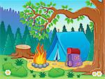 Camp theme image 2 - vector illustration. Stock Photo - Royalty-Free, Artist: clairev                       , Code: 400-06737463