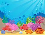 Coral reef theme image 4 - vector illustration. Stock Photo - Royalty-Free, Artist: clairev                       , Code: 400-06737473