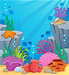 Image with undersea topic 3 - vector illustration. Stock Photo - Royalty-Free, Artist: clairev                       , Code: 400-06737486